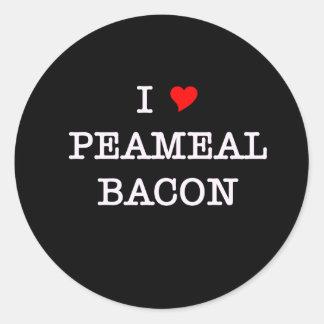 Bacon I Love Peameal Round Sticker