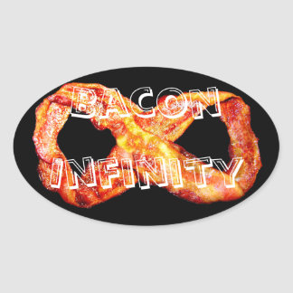 Bacon Infinity Oval Sticker