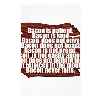 Bacon is Kind Stationery Design