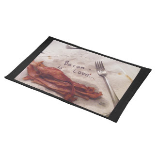 Bacon Is Love Placemat