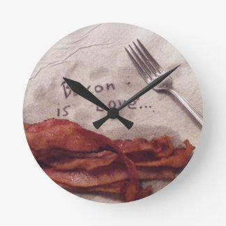 Bacon is Love Round Clock
