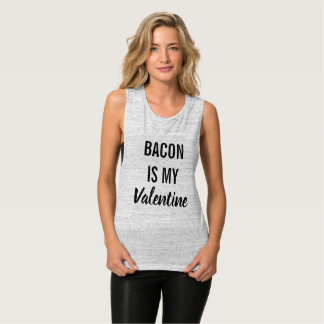 Bacon is My Valentine Tank Top