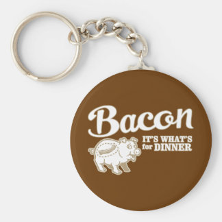 bacon - it's whats for dinner basic round button keychain