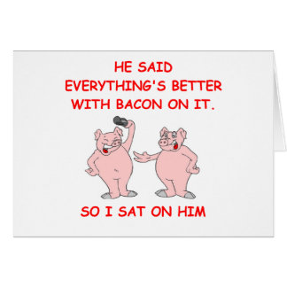 bacon joke card
