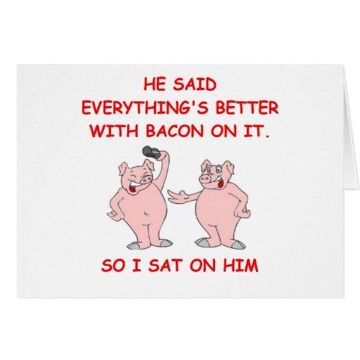 bacon joke cards