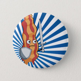 Bacon Knight 2 Inch Round Button
