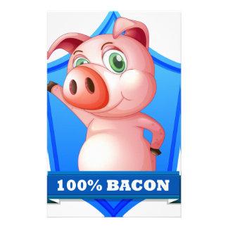 Bacon label custom stationery