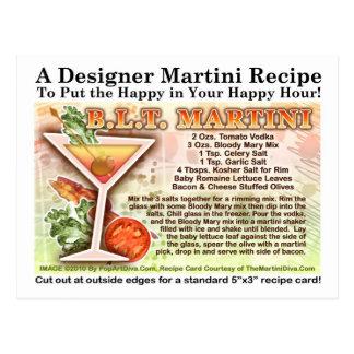 Bacon, Lettuce, Tomato Martini Recipe  Postcard