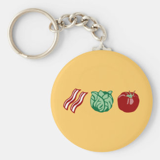 Bacon Lettuce & Tomato - The BLT! Basic Round Button Keychain