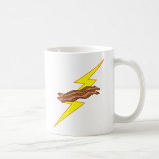 Bacon Lightning Basic White Mug