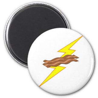 Bacon Lightning Fridge Magnet