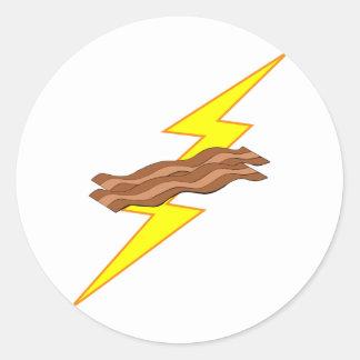 Bacon Lightning Round Sticker