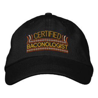 Bacon LOVE Baconologist certified Embroidered Baseball Cap