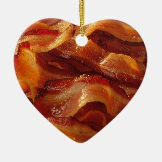 Bacon Love Ceramic Heart Ornament