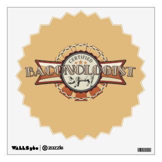 Bacon LOVE certified Baconologist Wall Sticker