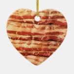 bacon love heart ornament