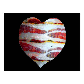 Bacon Love Heart Postcard