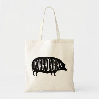 Bacon Lover - Porkatarian - Funny Vintage Pig Tote Bag