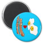 Bacon Loves Eggs Funny Bacon Design Magnets