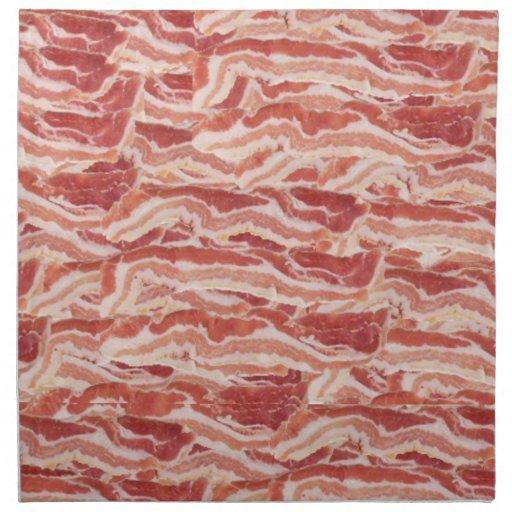 Bacon Napkins! Printed Napkin