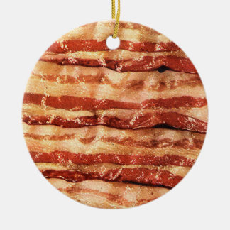 bacon ornament-round ceramic ornament
