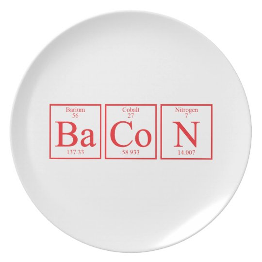 BaCoN periodic table elements Melamine Plate