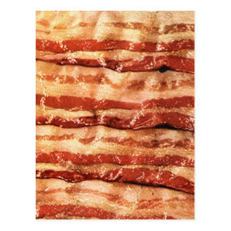 bacon, postcard