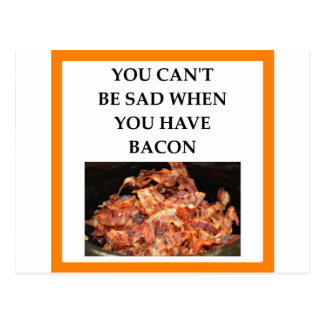 bacon postcard