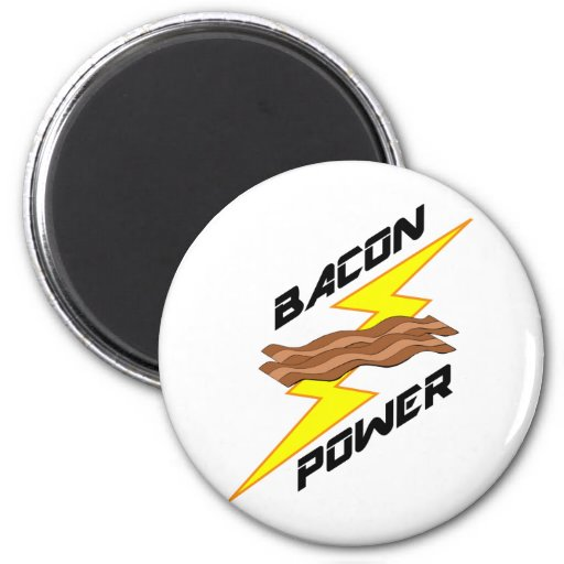 Bacon Power Fridge Magnets