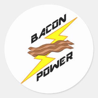 Bacon Power Round Sticker