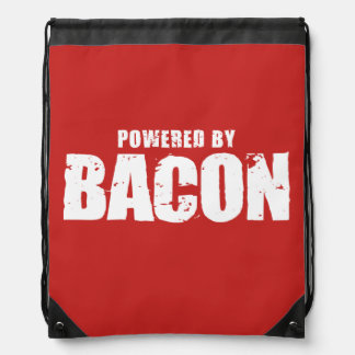 Bacon - Powered By Bacon Drawstring Bag