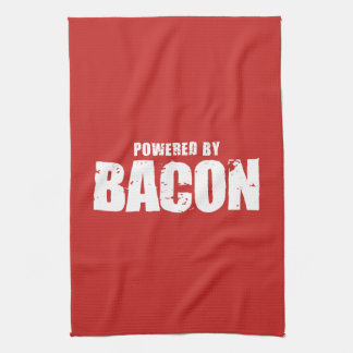 Bacon - Powered By Bacon Kitchen Towel