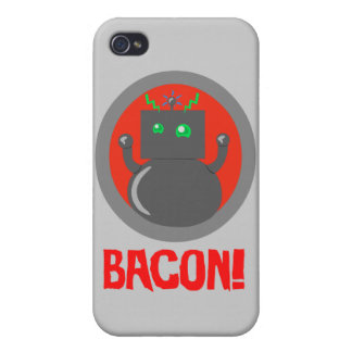 Bacon Robot Covers For iPhone 4