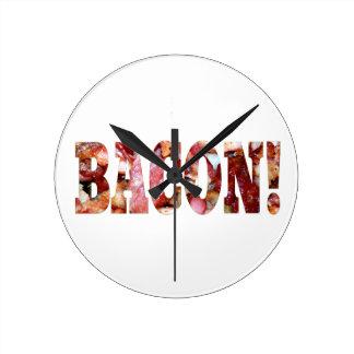 BACON! ROUND CLOCK