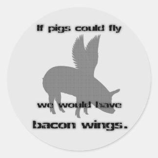 bacon round sticker