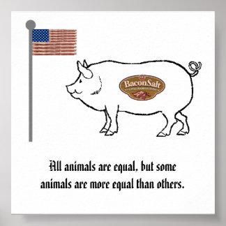 bacon salt nation pig poster