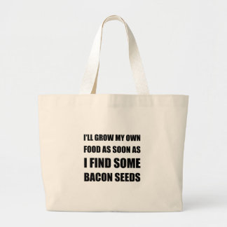 Bacon Seeds Large Tote Bag