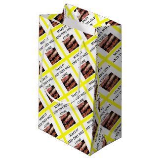 bacon small gift bag