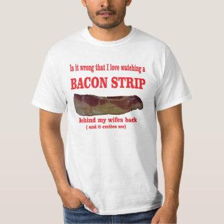 Bacon strip t shirt