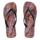 Bacon Strips Flip Flops