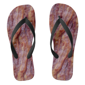 Bacon Strips Flip Flops