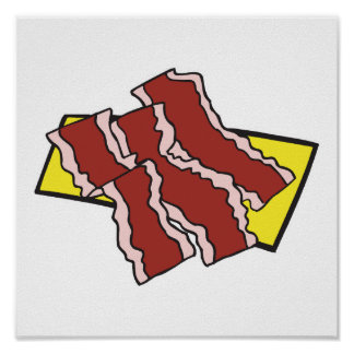 bacon strips poster