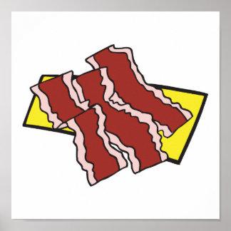 bacon strips poster