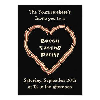 "Bacon tasting party 5"" x 7"" invitation card"