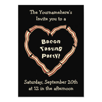 Bacon tasting party card