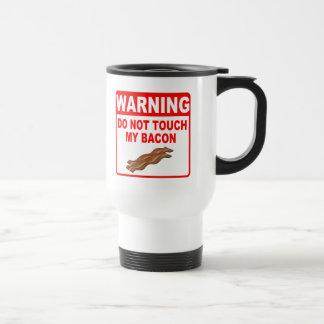 Bacon Warning Sign Stainless Steel Travel Mug