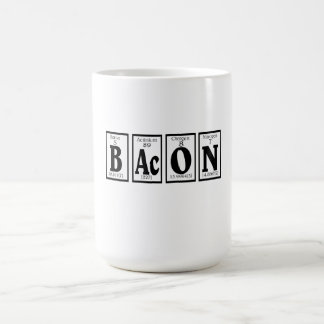 Bacon with your coffee. coffee mug