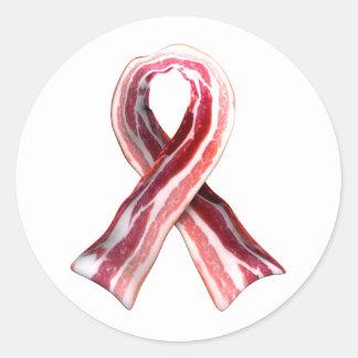BaconRibbon Round Sticker