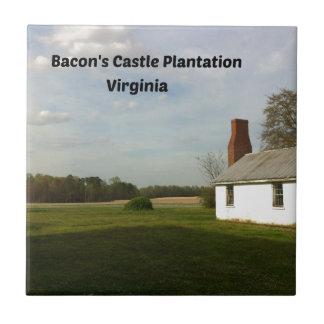 Bacon's Castle Plantation, VA Tile