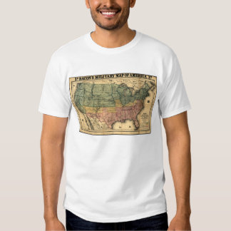 Bacon's Military Map of the United States (1862) Tshirts